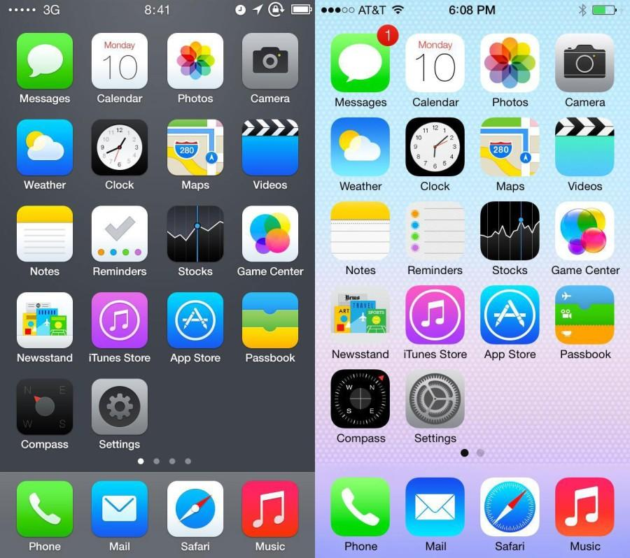 The+preivous+iOS+compared+to+the+new+iOS+update.