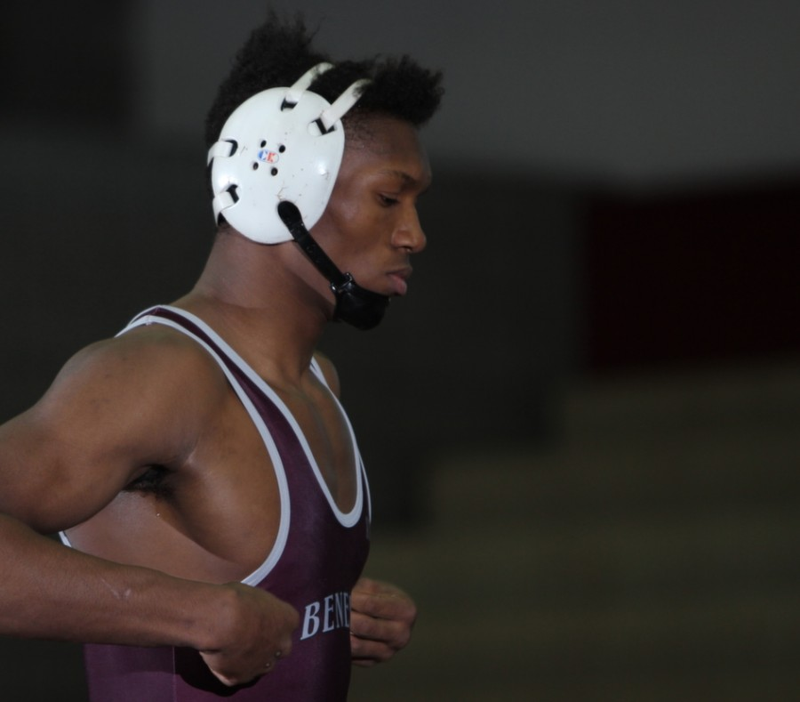 Senior+Muqkadeen+Poole+only+started+wrestling+once+he+was+a+freshman.