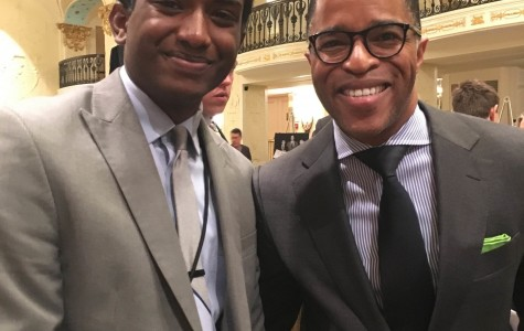 Jonathan Capehart '85, above, was one of the program's most well-received speakers. I caught up with him after his speech.
