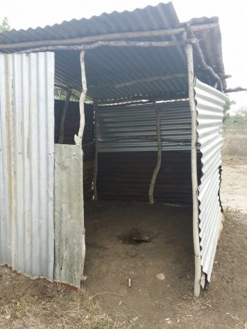 This image is of the bathroom at the Sitamani Primary School.