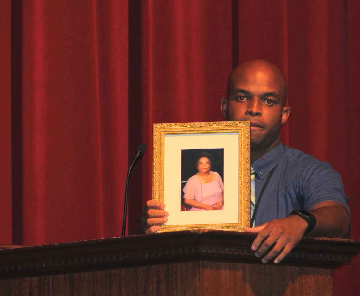 The Raymond J. Sachs, Sr. '25 Award recipient Craig White attributing his success to his late grandmother.