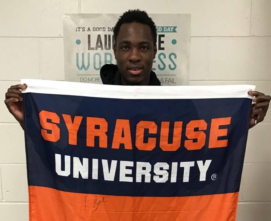 Senior Bourama Sidibe taking pride in his future alma mater, Syracuse University