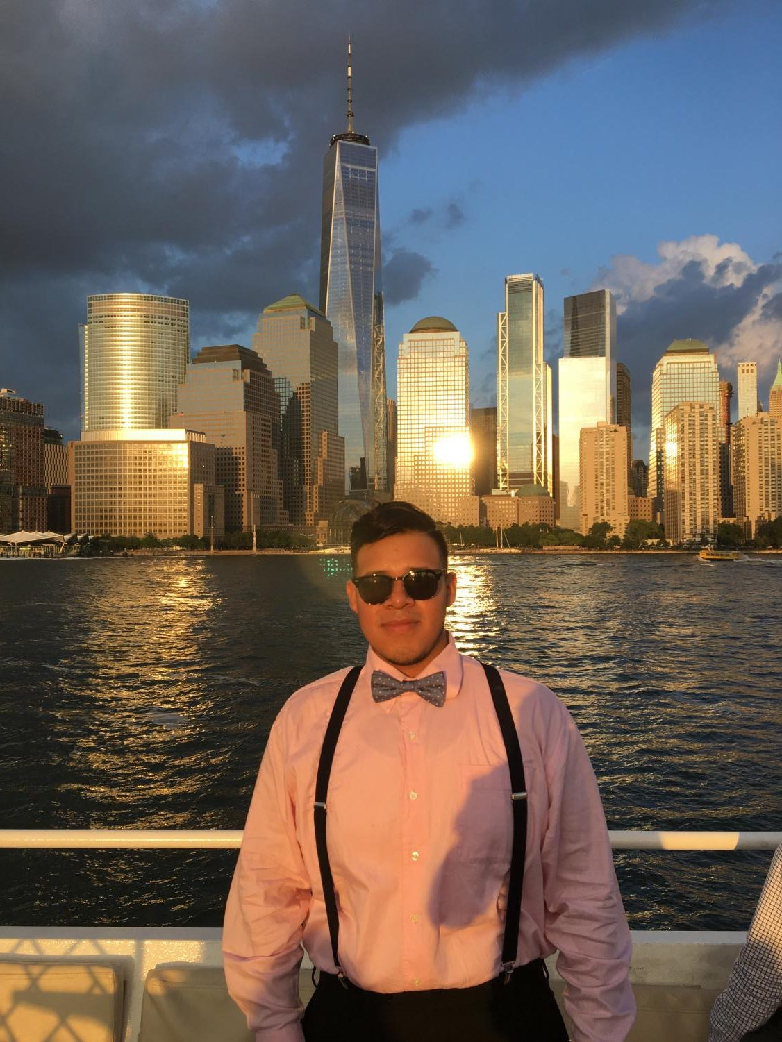 A summer pre-college program at Stevens Institute was capped for Jacob Amaro '19 by a dinner cruise showcasing New York Harbor.
