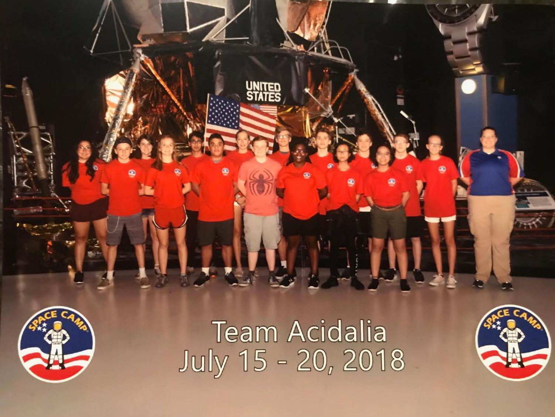 SBP Student Markoantonio Duran kept busy at U.S. Space Camp, enjoying multiple science activities