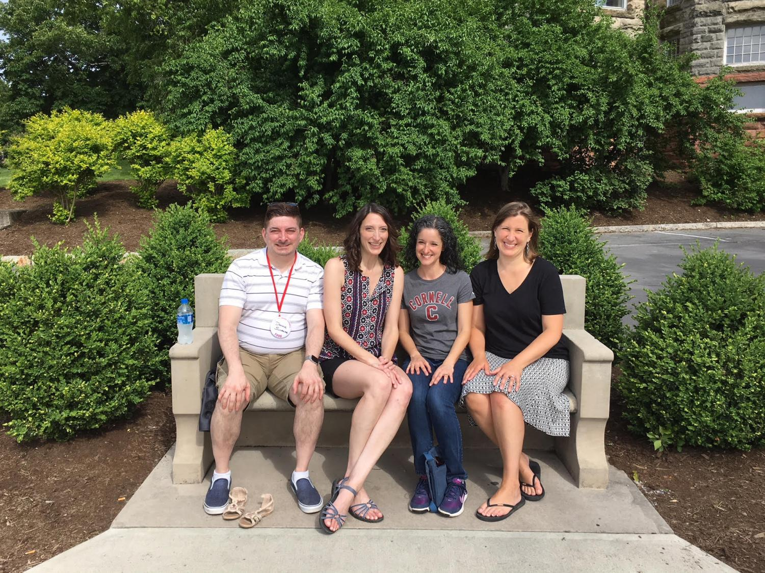SBP Assistant Headmaster for Academics Ms. Tuorto, third from left, joins friends at her Cornell University reunion in Ithaca, N.Y.