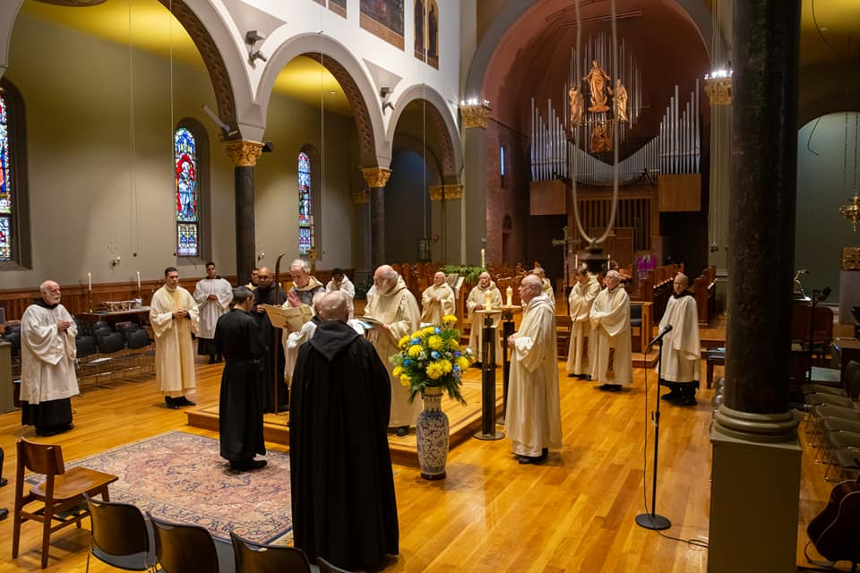 St. Mary's R.C. Church on Newark Abbey grounds was the scene of a special Mass over the weekend featuring