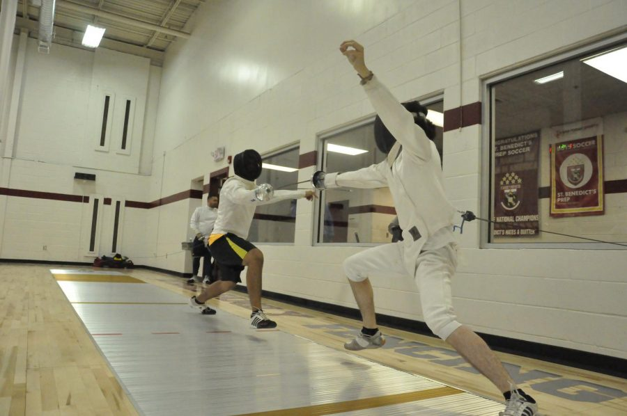 The New Fencing Room, generously donated by Mr. Cetrulo, has brought a new energy to the team.