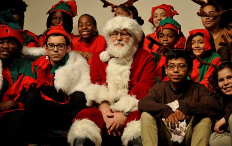 Santa and the Elves of St. Benedict's visited Convo to bring music and good wishes