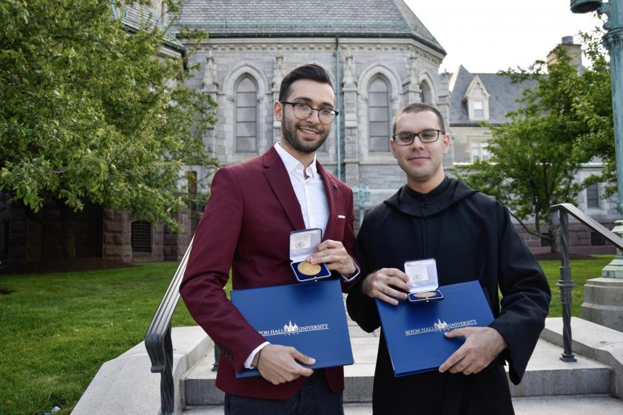 Two Benedict's faculty members were awarded the Pope John Paul II Medal for Academic Excellence from the Seton Hall University School of Theology at a Mass and graduation ceremony at the Cathedral Basilica in Newark.