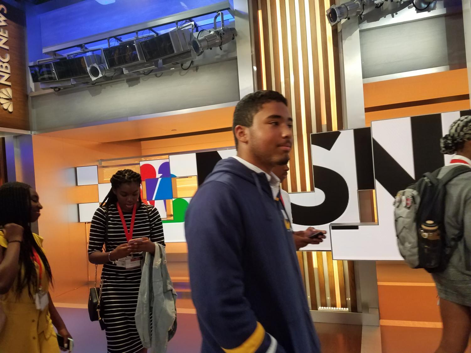 SBP student Alex Benanti UD1 visited major media outlets such as MSNBC studios as part of a selective summer journalism program at Rutgers University in New Brunswick.