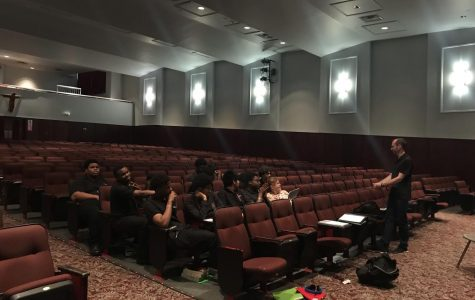 An SBP Technical Theater class learns how Broadway lighting expert Brian Collins got his start.