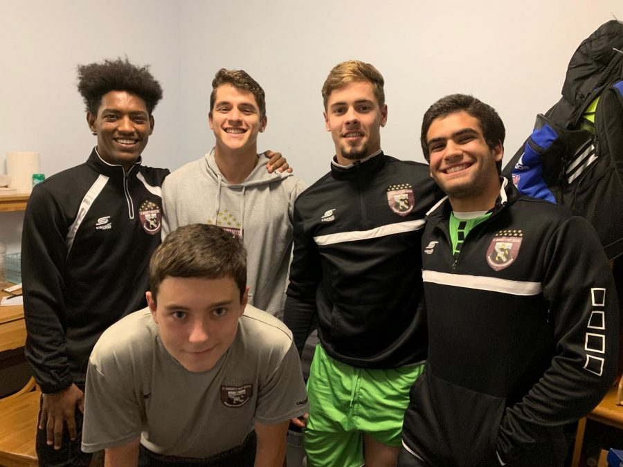 SBP+Varsity+Soccer+Players+discussed+their+team%27s+%22fighting+spirit%22+in+a+roundtable+at+the+Leahy+House.%0A%0AFrom+left+%28in+foreground%29+Rhys+Armstrong+UDII%2C+%28back+row%29+Zemi+Rodriguez+UDII%2C+Cao+Chavez+SY%2C+Lui+Chaves+SY%2C+and+Thiago+Quintanilha+SY.