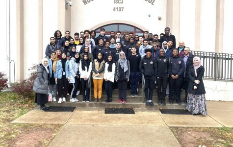 Students and faculty from St. Benedict's Prep visit the Noor ul-Iman School in Monmouth Junction as part of a