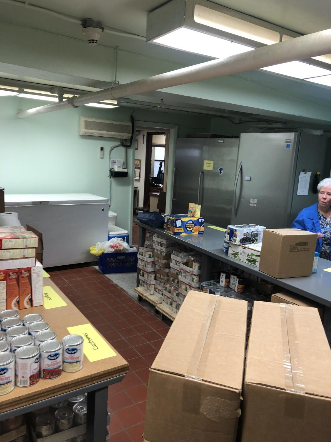 The renovated Pierre Touissant Food Pantry at St. Benedict's gives visitors a much better experience, according to Sister Linda Klaiss, O.S.J., who manages the pantry.