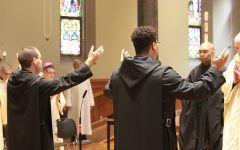 Br. Simon Peter Clayton and Br. Asiel Maria Rodriguez profess their solemn vows to Newark Abbey. For more photos, see link in story.