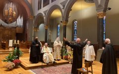 Br. Francis Woodruff, O.S.B., professes his solemn vows at St. Mary's Church.