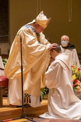Asiel Maria Rodriguez, a Benedictine monk of Newark Abbey, is ordained a priest by the Most Rev. Manuel Cruz, Auxiliary Bishop of the Archdiocese of Newark
