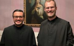 Br. Rafael González, nO.S.B., (at left) and Br. Bruno Mello, nO.S.B., will be leading Newark Abbey's publicity efforts.