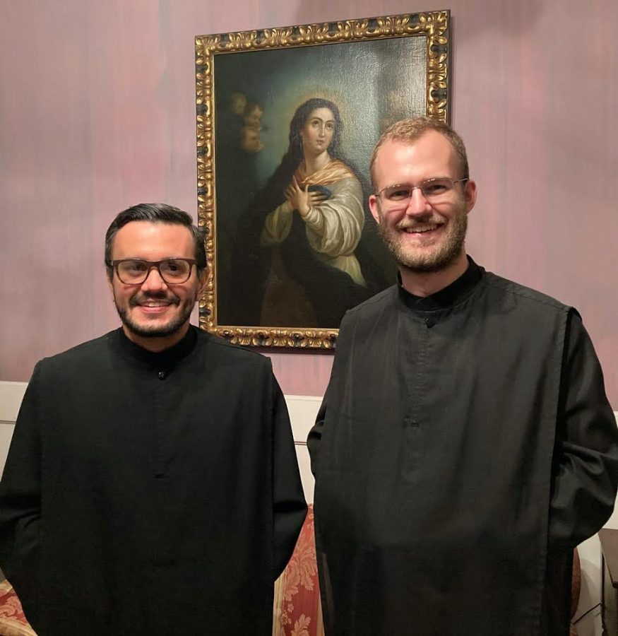 Br. Rafael González, nO.S.B., (at left) and Br. Bruno Mello, nO.S.B., will be leading Newark Abbey